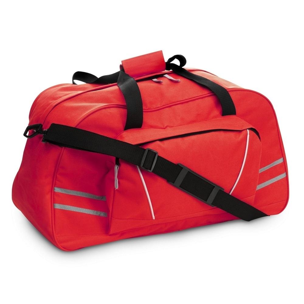 4e05381127423 Torba sportowa / podróżna z odblaskowymi paskami, regulowany pasek na ramię  (V4625-05)